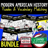 American History Vocabulary Activity Puzzle BUNDLE (Print and Digital)