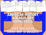 American History Vocabulary Basketball Terms and Quizzes Game