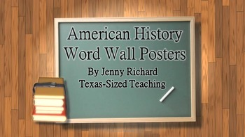 American History Vocabulary Word Wall Posters