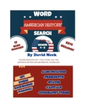 American History Word Search Vocabulary Grade 4 - 8