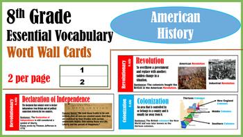 American History Word Wall