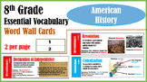 American History Word Wall