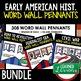 Colonialism Word Wall Pennants, American History Word Wall