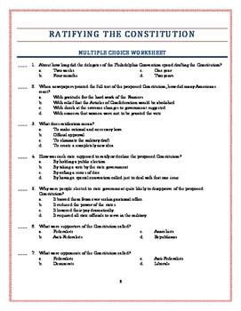 Understanding The Constitution Worksheet - Nidecmege