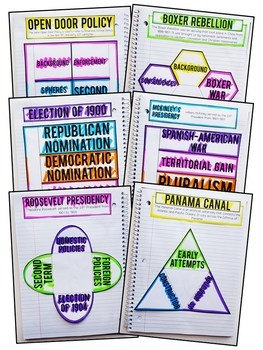 American History Year-Long Interactive Notebook and Graphic Organizers Bundle