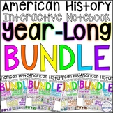 American History Year Long Interactive Notebook Graphic Or