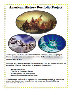 American History Year-Long Portfolio Project!