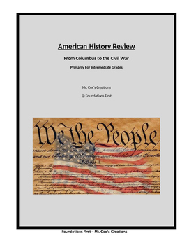 American History for Intermediate Grades - From Columbus to the Civil War.