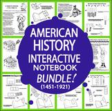 U.S. History Bundle–93 Interactive American History Lessons + 185 Activities