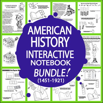 American History ULTIMATE Bundle + 20 Interactive Notebook