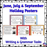 American Holiday Posters for June, July & September in Acrostic Poem Format
