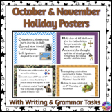 American Holiday Posters for October & November in Acrostic Poem Format