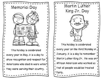 American Holidays Mini Book - SOL 2.5
