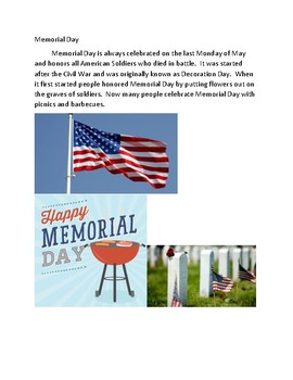 American Holidays and Celebrations Lesson plan