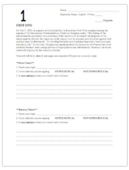 American Hypocrisy Essay - Writing Process Steps - Common Core Argumentation
