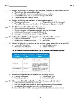 American II or U.S. History II Test - BUNDLE - Multiple Choice, Matching, Essay