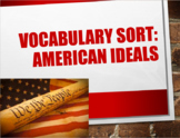 American Ideals Vocabulary Sort