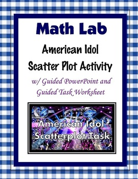 8th Grade Common Core Math [Guided Task]  - American Idol Scatter Plot