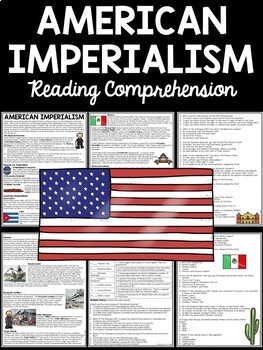 American Imperialism of Latin America Reading Comprehension Worksheet