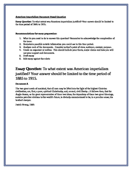 American Imperialism Document Based Question