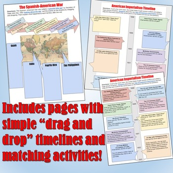 American Imperialism Google Drive Interactive Notebook for Distance Learning
