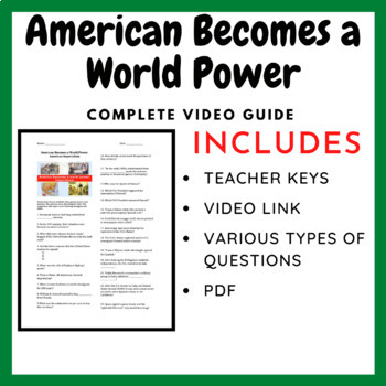 American Imperialism: Graphic Organizer, DBQ, and Video Guide