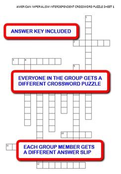 American Imperialism: Interdependent Crossword Puzzles Activity