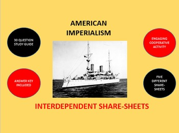 American Imperialism: Interdependent Share-Sheets Activity