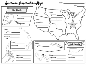 American Imperialism Map & Graphic Organizer