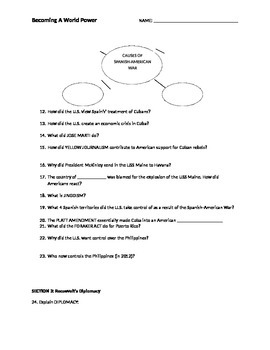 American Imperialism Notesheet