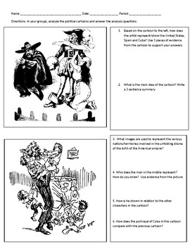 American Imperialism Political Cartoons Analysis