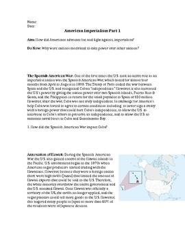 American Imperialism: Socratic Seminar