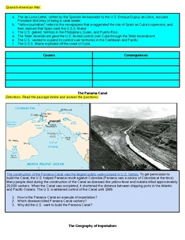 American Imperialism U.S. History EOC Review Activities
