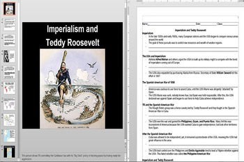 American Imperialism Under Teddy Roosevelt Powerpoint AND Notes Worksheet