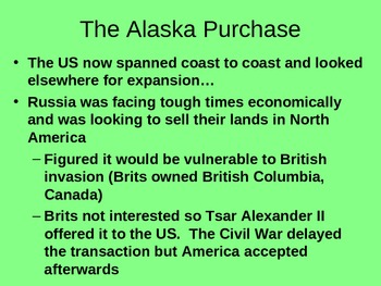 American Imperialism complete powerpoint slides for entire unit