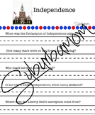 American Independence 4th of July- History - Writing- Scav