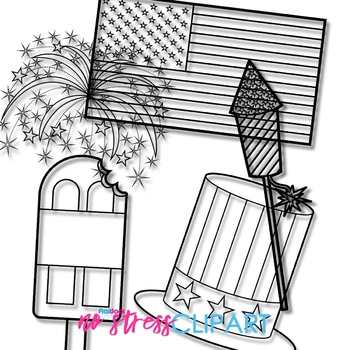 American Independence Clip Art (Digital Use Ok!)