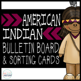 American Indian Bulletin Board & Sort Cards