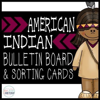 American Indian Bulletin Board & Sort Cards