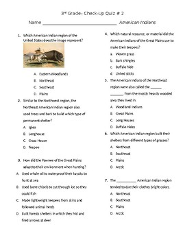 American Indian Check Up Quiz #2 GSE