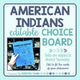 American Indians Choice Board - Editable