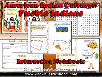 American Indian Cultures Interactive Notebook: Pueblo Indians