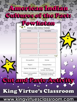American Indian Cultures of the Past: Powhatan Cut and Paste