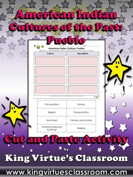 American Indian Cultures of the Past: Pueblo Cut and Paste
