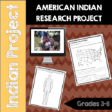 American Indian Research Project- Common Core- 3rd, 4th, 5th, 6th, 7th, 8th