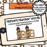 American Indian Themed Number Word Activities For GOOGLE CLASSROOM
