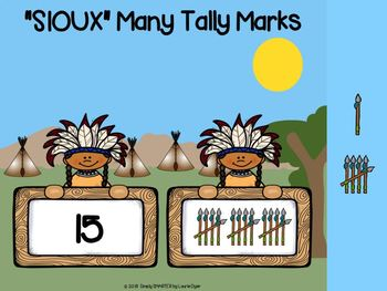 American Indian Themed Tally Mark Activities For GOOGLE CLASSROOM