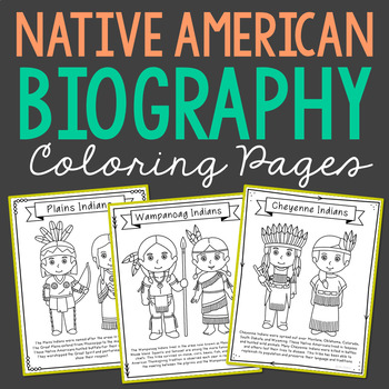 NATIVE AMERICAN INDIAN TRIBES Coloring Pages | Crafts | Mini Books