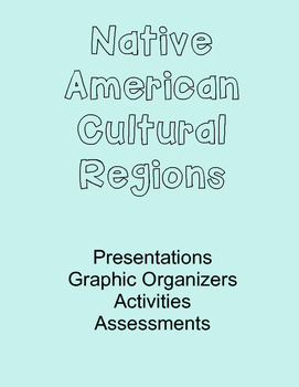 American Indian Unit- Graphic Organizers, Presentations, Activities