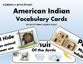 American Indian Vocabulary Cards